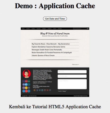 HTML5 Application Cache