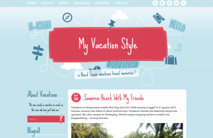 Vacation Style WordPress Theme